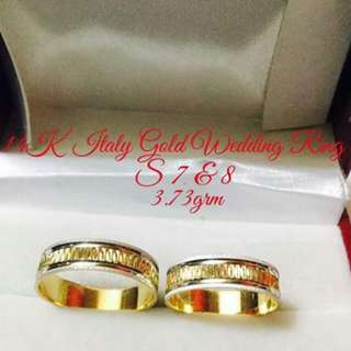 Authentic Saudi Gold Wedding Rings
