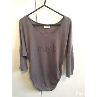 Charcoal Batwing Style Top Ladies Size XS