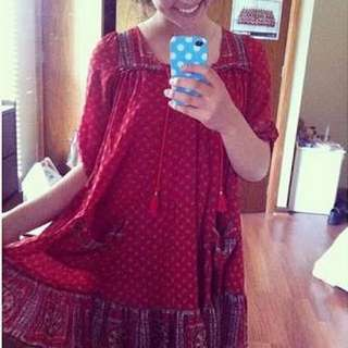 FREE PEOPLE - Penny Lane Dress In Red
