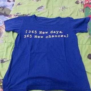 T-Shirt 365 New Days, 365 New Chances