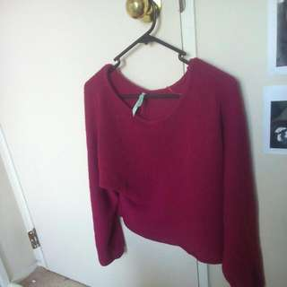 Cropped Matron Knitted Sweater