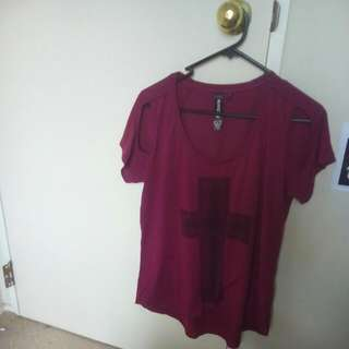 Maroon Casual Top