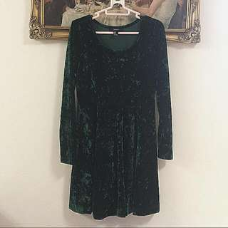 Forever 21 Velveteen Dress