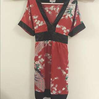 Silky Kimono Dress