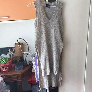 Zara灰色針織長版上衣 #我的旋轉衣櫃