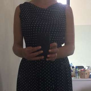 Polka Dot Dress Worn Once Size 8-10