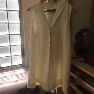 🔥已降價🔥Zara白色連身洋裝褲裙 #我的旋轉衣櫃