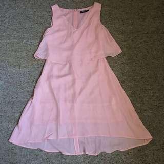 Peach Dress Zalora Basics