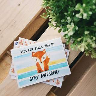 Fox Stay Awesome Card Print