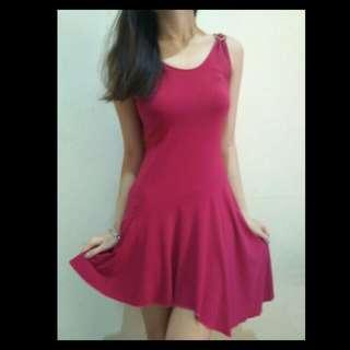 Dress Fuschia Murah