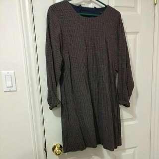 Zara Checkered Dress (Size L)