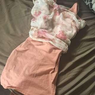 Mini Dress & Coverup: Size XS.