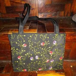 Embroided Floral Bag