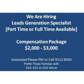 Lead Generation Specialist [Compensation Package $2000 - $3000]