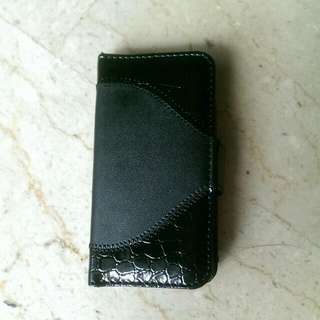iPhone 5  Leather Phone Flip Cover (Black)🌟New