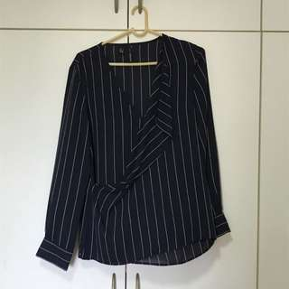 Mango Suit Formal Striped Top