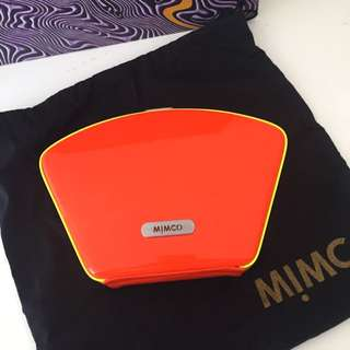 Mimco Orange And Yellow Neon Clutch
