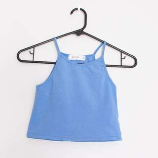 Glassons Blue Crop Top Size S