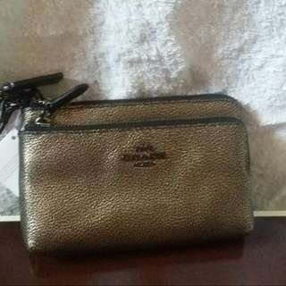 Repriced Coach Pebbled Leather Wristlet