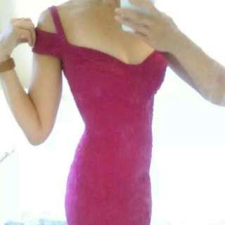 ASOS Hot Pink Bodycon Midi Dress 8