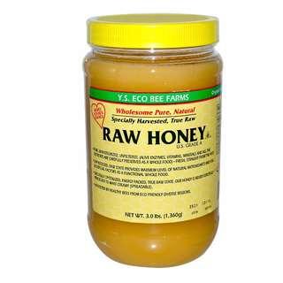 Y.S. Eco Bee Farms 100%有機原野生蜂蜜,3.0磅(1360克)