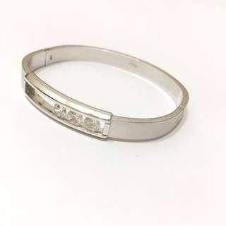 晶鑽白金色手環(客訂
