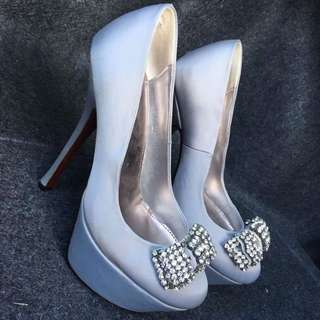 Diamond Bow Silver Marco Gianni Heels