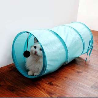 Funny Camouflage Crackle Chute Pet Cat Dogs Small Foldable Tunnel Dangling Bell Activity Toy Gift
