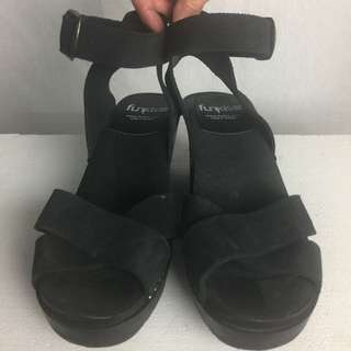 Brand New Funkis Swedish Black Wooden Clogs Size 38