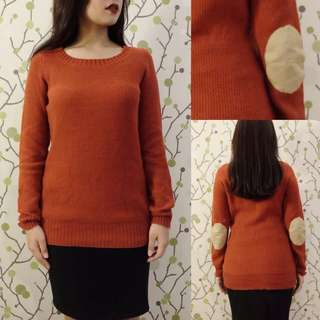 FOREVER21 Orange Sweater