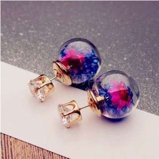 Korean Frozen Flower Crystal Earring