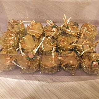15 Pieces Gold Bunga Rampai Gift Containers