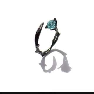 原創荊棘戒指純銀個性日韓開口潮人簡約小指尾戒情人節禮物送女友