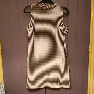 Pop Boutique Black And White Striped Dress