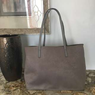 Suede/Leather Tote Bag