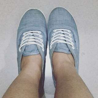 VANS Authentic Lo Pro Light Blue Chambray Sneakers