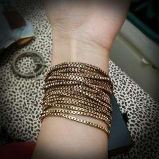 復古金銅色手鈪手鏈