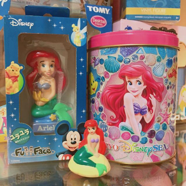 迪士尼 小美人魚 套餐 三件組
