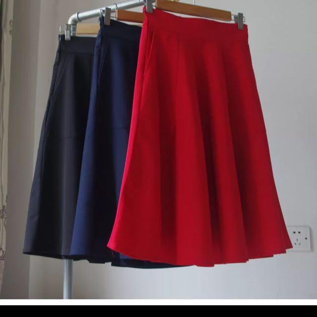 高腰裙 A字裙 百摺裙