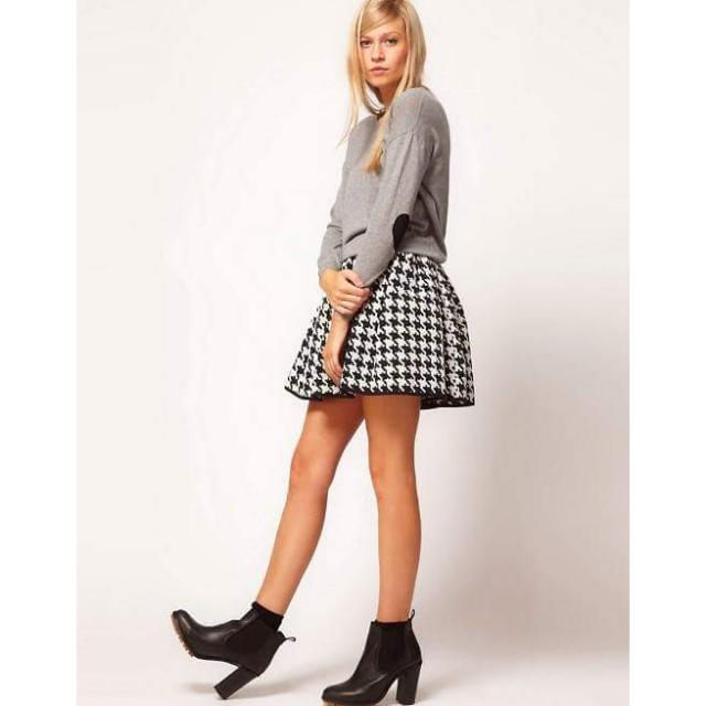 ASOS Grey Jumper With Heart Elbow Patches | Size 8 | RRP $50