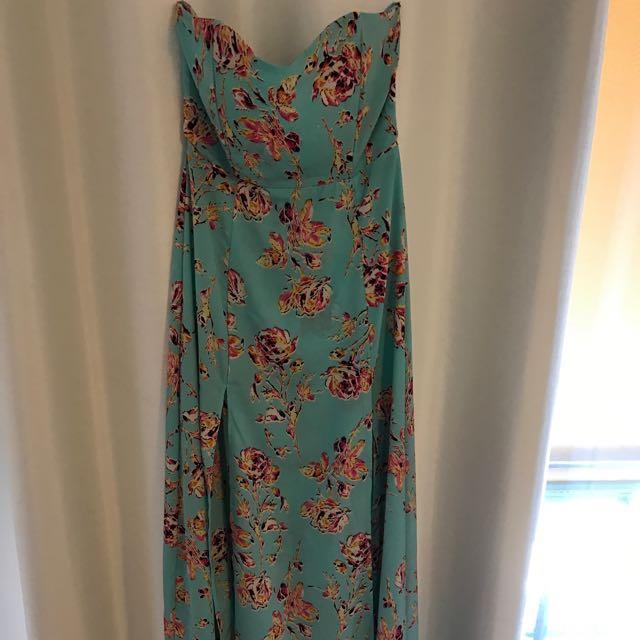 Blue Floral Lioness Dress