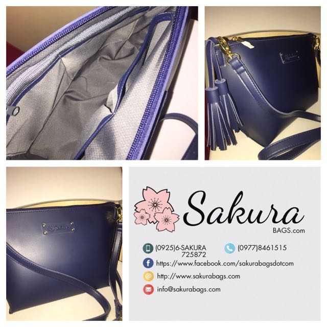 Blue Sling bag With Compartments