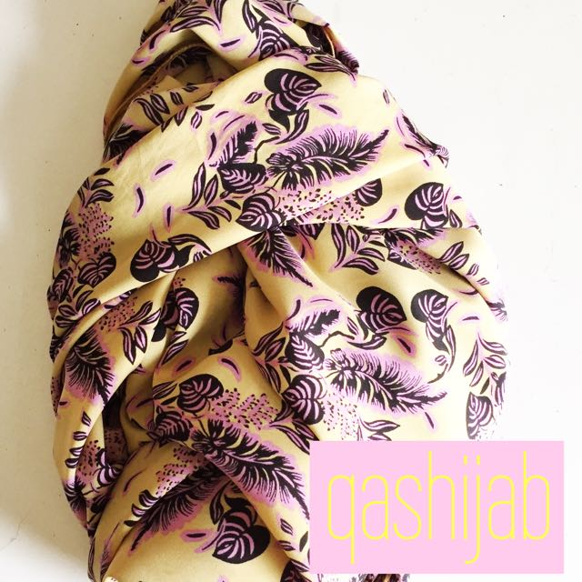 Brown Violet Hijab