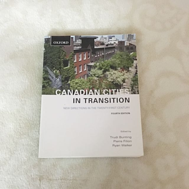 Canadian Cities In Transition Book