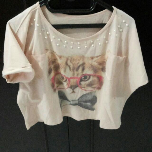 cat croptee