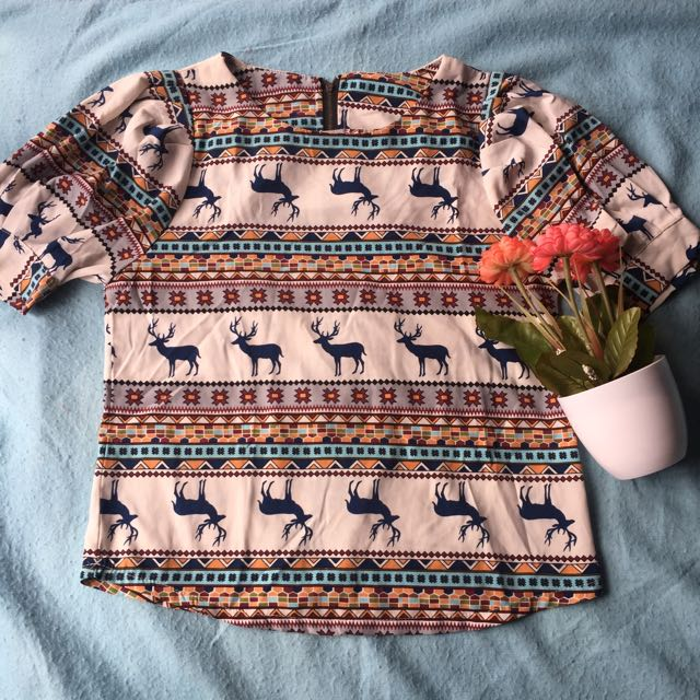 Deer Tribal Blouse