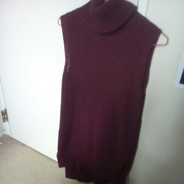 Dotti Maroon Turtle Neck Singlet/dress