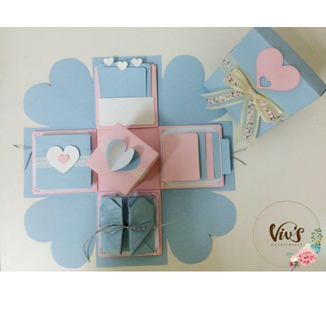 Explosion Box Surprise Box Wedding Gift Valentine S Gift