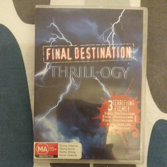 Final Destination Thrill-ogy DVDs