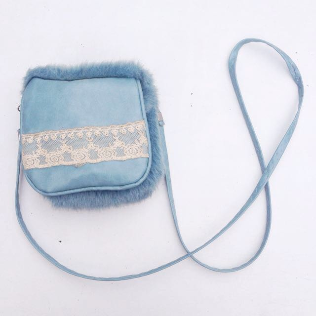 Furry Sling Pouch